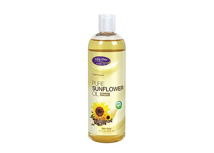 Life-Flo Pure Sunflower Oil, Certified Organic | Complexion & Body Moisturizer & Massage Oil | Cold Pressed & Hexane Free | 16 Fl Oz - 1