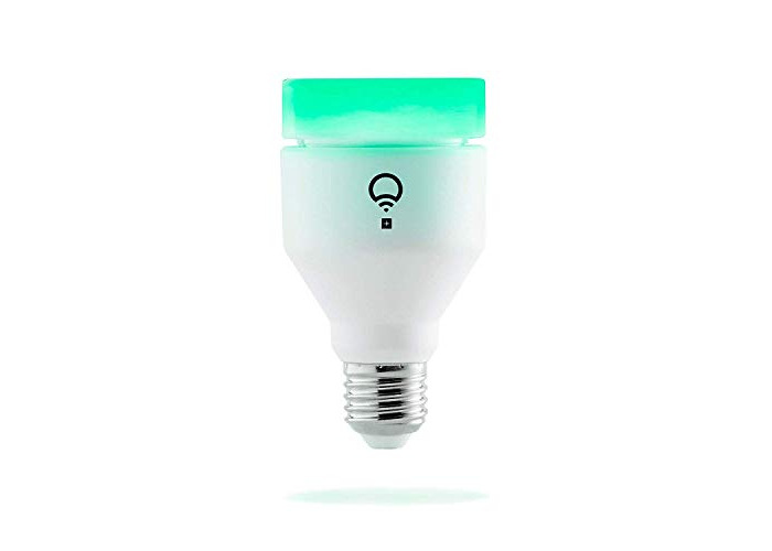 LIFX + (E27) Wi-Fi Smart LED Light Bulb with Infrared for Night Vision, adjustable, multicolour, dimmable, no hub required, works with Alexa, Apple HomeKit and the Google Assistant - 1