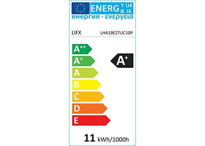 LIFX + (E27) Wi-Fi Smart LED Light Bulb with Infrared for Night Vision, adjustable, multicolour, dimmable, no hub required, works with Alexa, Apple HomeKit and the Google Assistant - 2