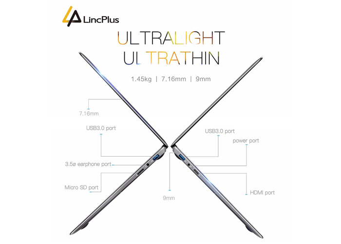 "LincPlus P1 13.3"" Full HD Laptop with Windows 10- Intel Celeron N4000 4GB RAM Up - 2"