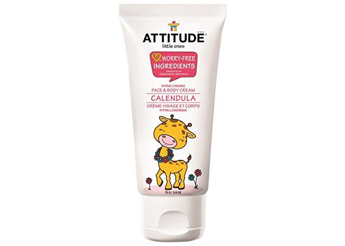 Little Ones, Calendula Face & Body Cream, 2.6 oz (75 g) - ATTITUDE - 1