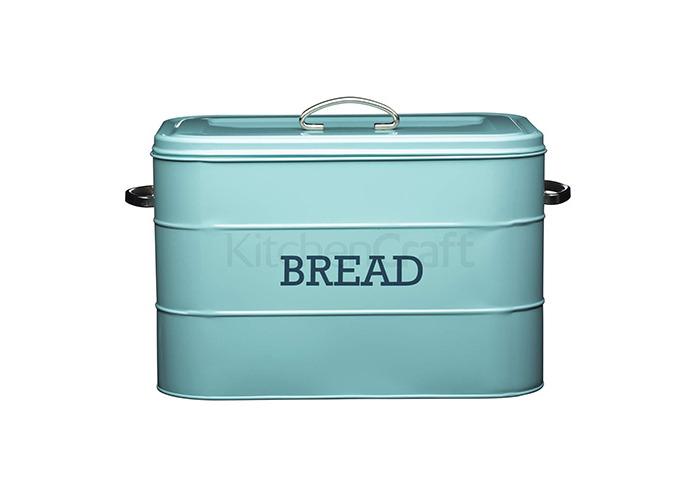 Living Nostalgia Vintage Blue Bread Bin - 1