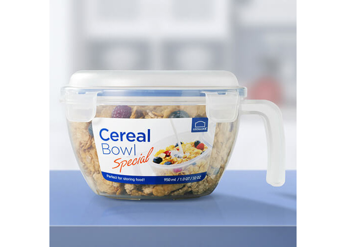 Lock & Lock Cereal Bowl, 950 ml - Clear - 2