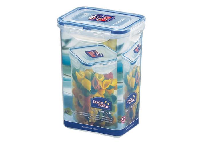 Lock & Lock Rectangular Storage Container, 1.3 L - Clear/Blue - 1