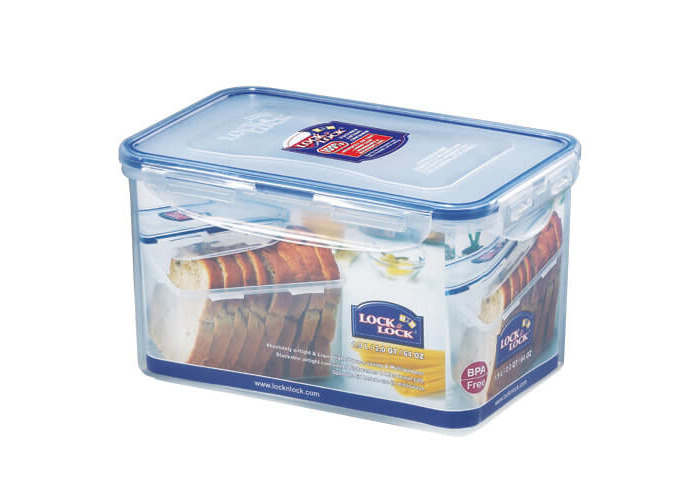 Lock & Lock Rectangular Storage Container, 1.9 L - Clear/Blue - 1