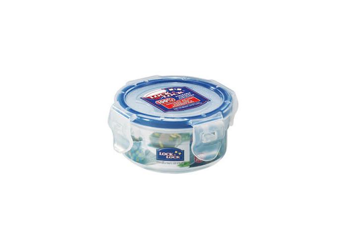 Lock & Lock Round Storage Container, 100 ml - Clear/Blue - 1