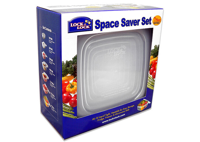 Lock & Lock Storage Container - Set of 7 Pieces - Clear - 1