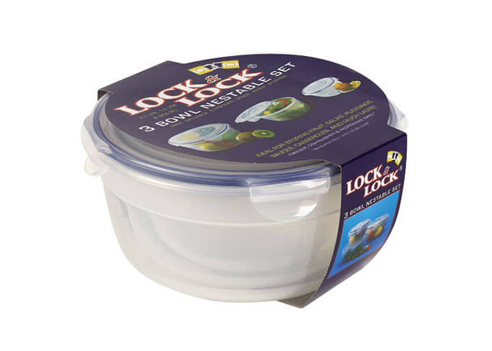 Lock/& Lock Food Storage 3 Bowl Nestable Set - 1