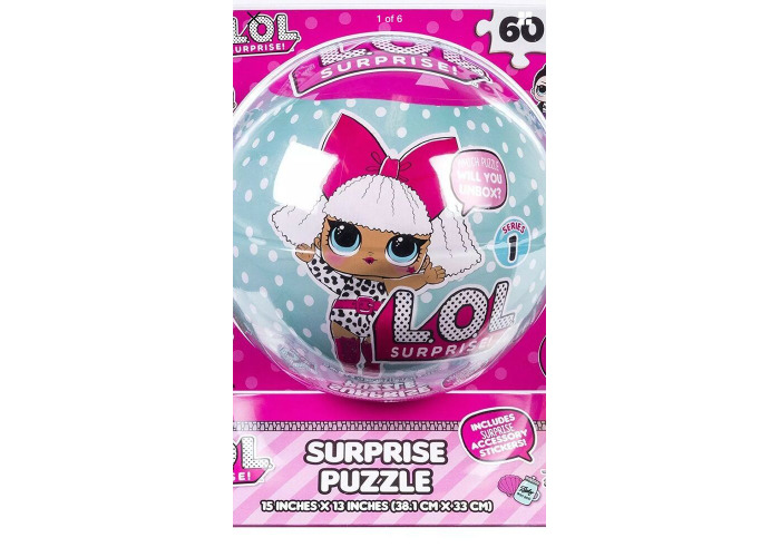 L.O.L Suprise 60pcs Jigsaw Puzzle In A Ball - 1