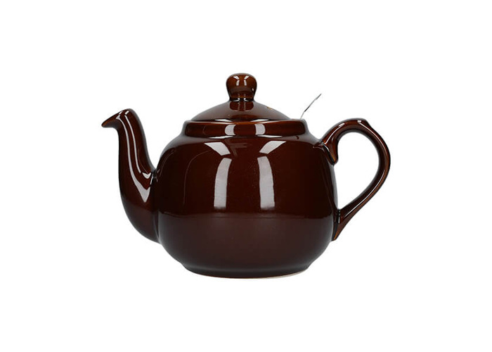 London Pottery Farmhouse Filter 2 Cup Teapot Rockingham Brown - 1