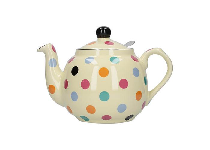 London Pottery Farmhouse Filter 4 Cup Teapot Multi Spot - 1