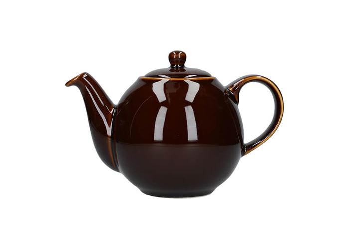 London Pottery Globe 4 Cup Teapot Rockingham Brown - 1