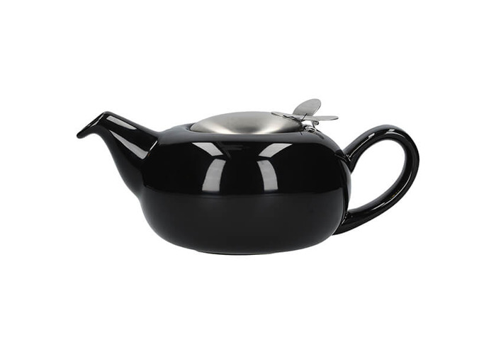 London Pottery Pebble Filter 4 Cup Teapot Gloss Black - 1