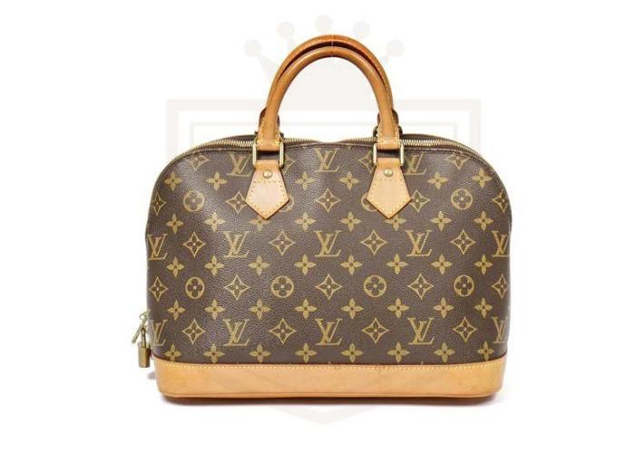 8ea862bf105 Rent LOUIS VUITTON Alma PM Brown Monogram Large Handbag Free UK D in ...