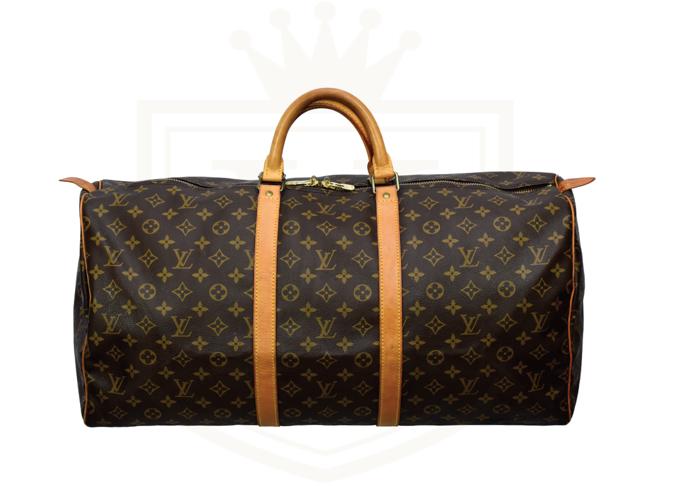 09ee4baf9 Rent LOUIS VUITTON Brown Monogram Weekender Keepall 55 Leather Ba in ...