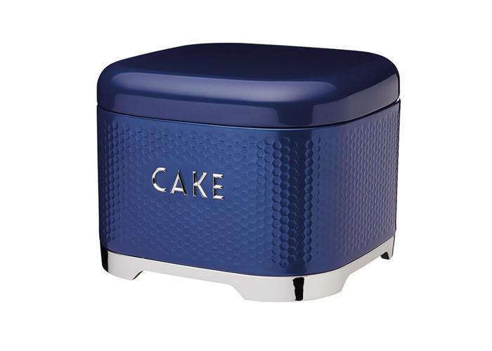 Lovello Retro Midnight Blue Textured Cake Tin - 1