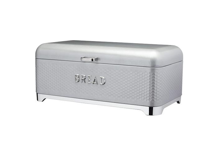 Lovello Retro Shadow Grey Textured Bread Bin - 1