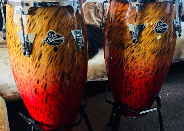 LP Aspire Congas with Double Stand - 1