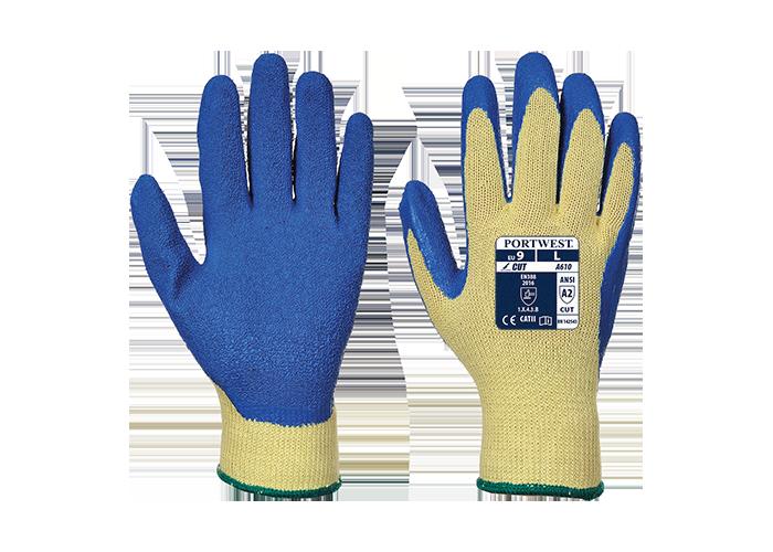 LR Latex Grip Glove  YeBlu  XXL  L - 1