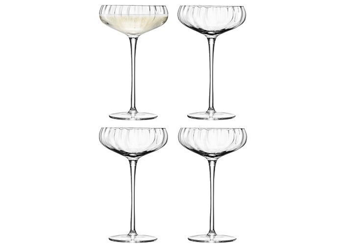 LSA Aurelia Champagne Saucer 300ml Set Of Four - 1