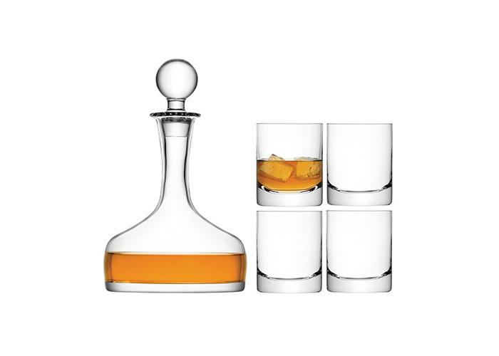 LSA Bar Whisky Set   LSA Whisky Carafe with 4 Whisky Glasses, LSA Handmade Glassware - 1