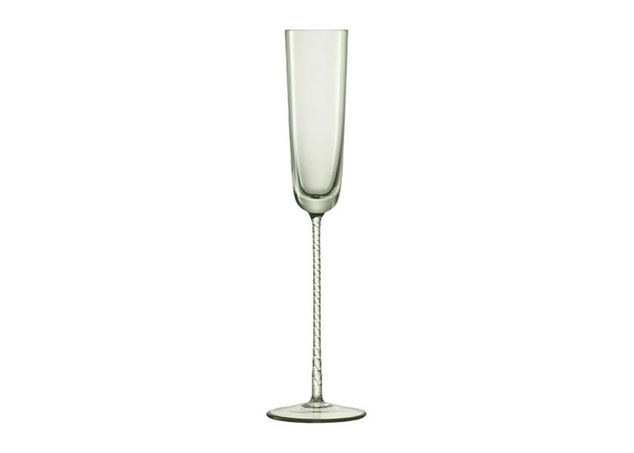 LSA Champagne Theatre 120ml Champagne Flute Braid / Smoke Grey Set Of 2 - 2