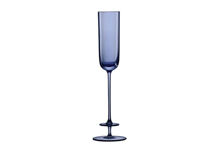 LSA Champagne Theatre 130ml Champagne Flute Tier / Midnight Blue Set Of 2 - 2