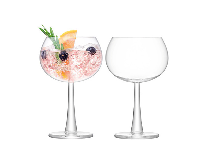 LSA Handmade 420ml Balloon Gin Glasses x2 - Gift Boxed - 1
