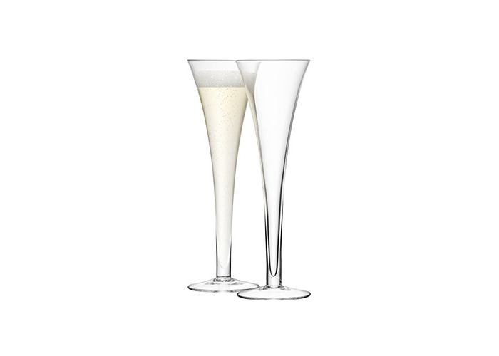 LSA Hollow Stem Champagne Flutes 7oz / 200ml - Pack of 2 | 20cl Champagne Glasses, Hollow Stemmed Champagne Glasses, Handmade Glassware from LSA - 1