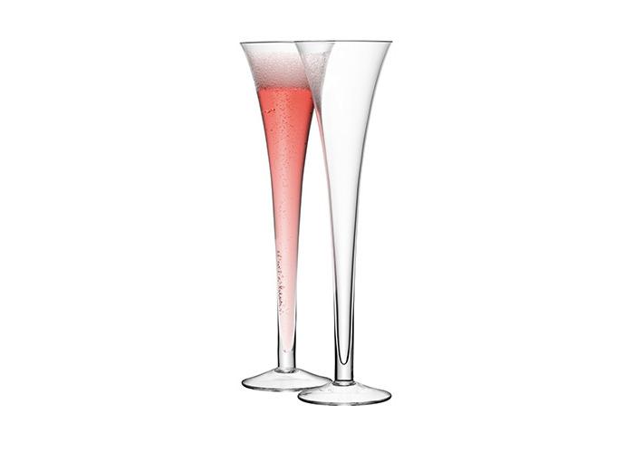 LSA Hollow Stem Giant Champagne Flutes 225ml - 1