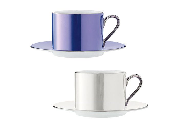LSA International 0.25 Litre Polka Teacup and Saucer, Assorted (Pack of 4) - 2