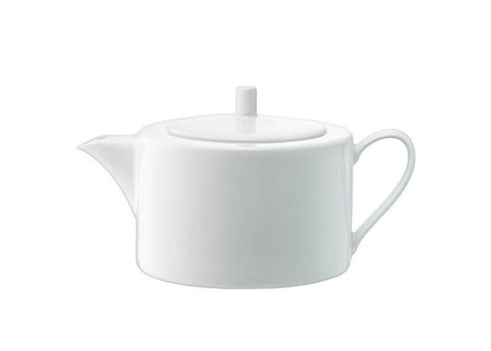 LSA International 1.2 Litre Dine Teapot Straight, White, 15 x 23 x 13 cm - 1