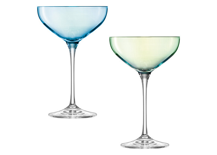 LSA International 390 ml Polka Champagne Saucer, Assorted (Pack of 4) - 2