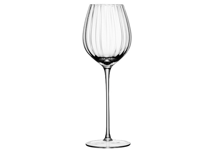 LSA International 430 ml Aurelia White Wine Glass, Clear (Pack of 4) - 2
