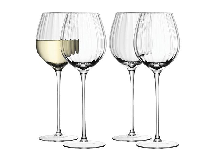 LSA International 430 ml Aurelia White Wine Glass, Clear (Pack of 4) - 1