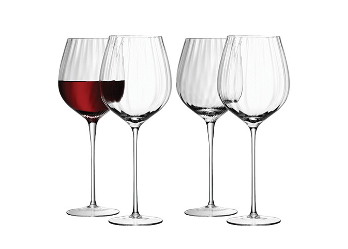LSA International 660 ml Aurelia Red Wine Glass, Clear (Pack of 4) - 1