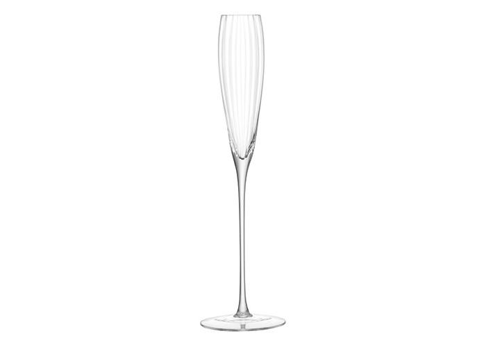 LSA International Aurelia Grand Champagne Flute 165ml Clear Optic x 2, Set of 2 - 2