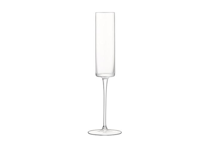 LSA International Otis Champagne Flute, Glass, Clear, 150 ml, Set of 4 - 2