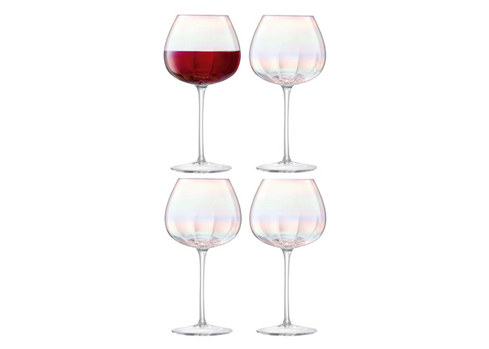 LSA International Pearl Red Wine Glass 460ml, Mother Of Pearl, Set of 4 - 1