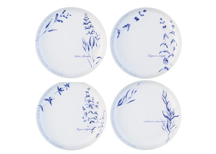 LSA International RBG Kew Tea Plate, Clear, 19 cm Diameter, Set of 4 - 1