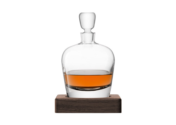 LSA International Whisky Arran Decanter with Walnut Base, Glass, Clear, 1 Litre - 2