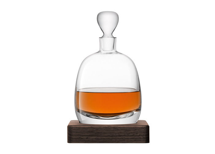 LSA International Whisky Islay Decanter with Walnut Base, Glass, Clear, 1 Litre - 2
