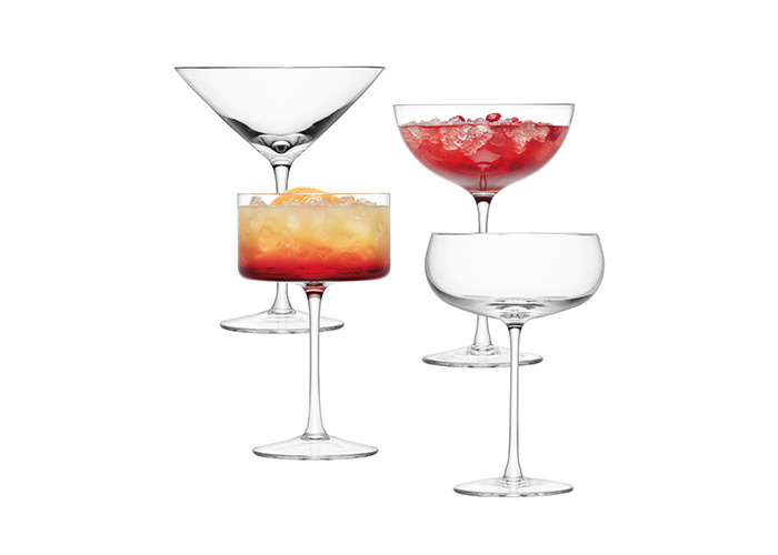 LSA LULU Champagne / Cocktail Glass Set Of Four - 1