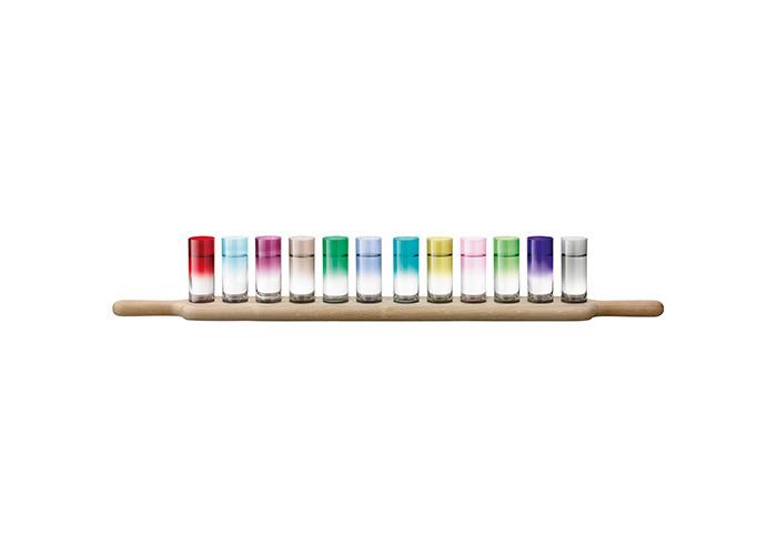 LSA Paddle Grand Vodka Set & Oak Paddle 77cm Assorted Colours - 2
