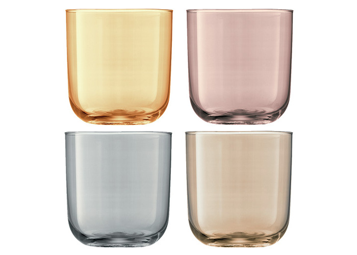 LSA Polka Metallics Tumbler 420ml Set Of Four - 1