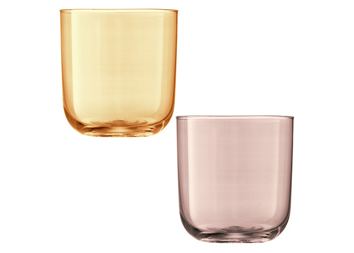 LSA Polka Metallics Tumbler 420ml Set Of Four - 2