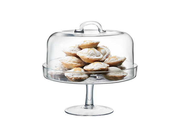 LSA SERVE CAKESTAND & DOME 26.5/25cm CLEAR - 2