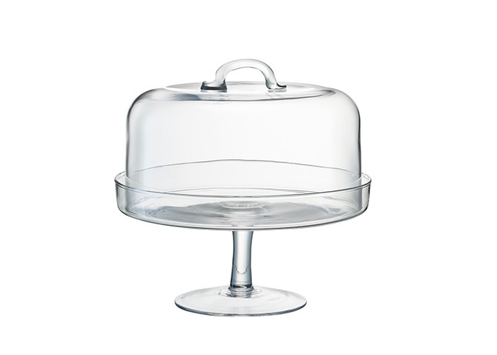 LSA SERVE CAKESTAND & DOME 26.5/25cm CLEAR - 1