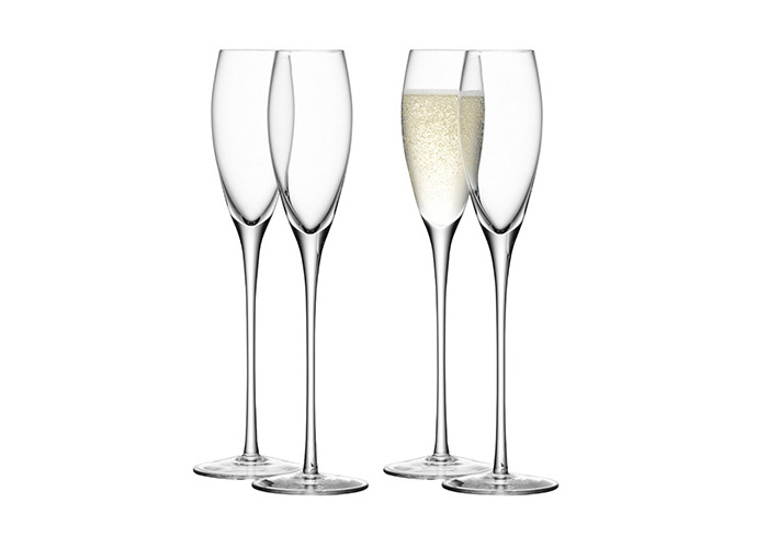 LSA Wine Champagne Flutes Set of 4 Champagne Flutes - 1