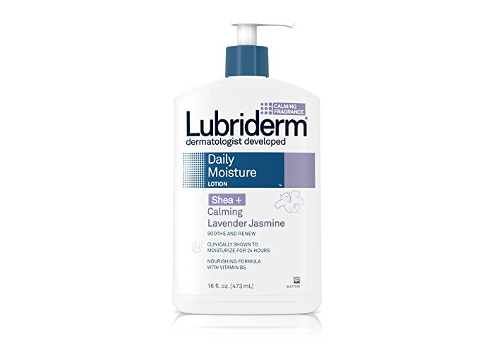 Lubriderm Daily Moisture Lotion for Dry Skin, Enriched with Nourishing Shea Butter, Vitamin B5, and Calming Lavender Jasmine, Non-Greasy 16 fl. oz (Pack of 3) - 1